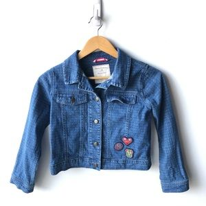 Hanna Andersson Jean Jacket Patches Girls 8/140